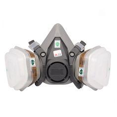 6200 Máscara De Gas Para Filtro de Polvo Spray Paint 7 Trajes Media mascarilla Anti-Niebla Neblina Máscaras Formaldehído Pesticidas partículas