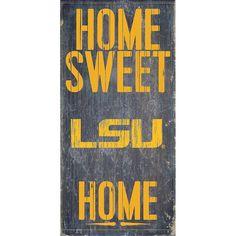 LSU Tigers Sweet Home Wall Art, Multicolor