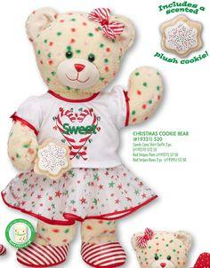 Candy Cane Christmas Cookie Bear - Build-A-Bear Workshop US Cookie Bear, Bear Cookies, Teddy Bear Cartoon, Cute Teddy Bears, Build A Bear Outfits, Paddington Bear, Pooh Bear, Tigger, Bear Art