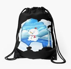 Shop Tear It! ~ Snowbaby Line Drawstring designed by We~Ivy. Backpack Bags, Tote Bag, Presents For Friends, Makeup Pouch, My Themes, Good Cause, Drawstring Bags, School Bags