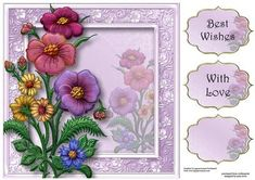 Beautiful Enamel Flowers 8x8 Quick Topper on Craftsuprint - Add To Basket!