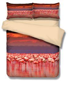 flamingos fashion pattern 3D Bedding Set  Print Duvet cover set Twin queen king lifelike bed sheet #2 #Affiliate