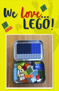 We LOVE LEGO! Keep the boredom at bay and give yourself a well earned break this bank holiday with our easy LEGO ideas. Try this tin of LEGO to keep them busy on the go! Perfect for days out. 3 Letter Words, Letter Sounds, Cleaning Fun, Teeth Cleaning, Home Activities, Travel Activities, Build Math, Sticky Labels, Small Tins