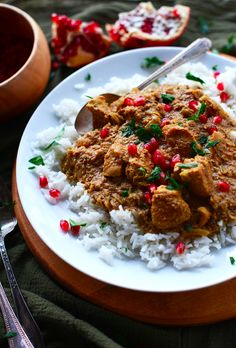 Healthy dinner idea: Pomegranate Walnut Chicken! Persian food that's healthy and simple | MinimalistBaker.com