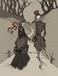 Little Gothic Horrors: Delightfully Dark Art: Abigail Larson Totally like it Gothic Horror, Gothic Art, Horror Art, Gothic Images, Dark Gothic, Fantasy Kunst, Fantasy Art, Fantasy Women, Dark Fantasy