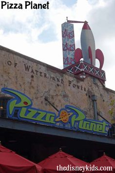 Disney Tip - Pizza Planet in Disney Hollywood Studios has great pizza and has a…