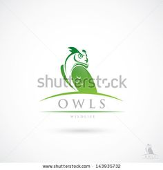 Owl label - vector illustration - stock vector