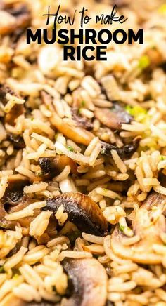 How to make mushroom rice – The Tortilla Channel Mushroom rice is a super tasty side dish. This one pot recipe is vegan and made with vegetable broth and lots of vegetables. Visit thetortillachanne… for the full recipe. Healthy Rice Recipes, Rice Recipes For Dinner, Easy Appetizer Recipes, Side Dish Recipes, Vegetable Recipes, Vegetarian Recipes, Tortilla Recipes, Veggie Food, Recipe For Side Dishes