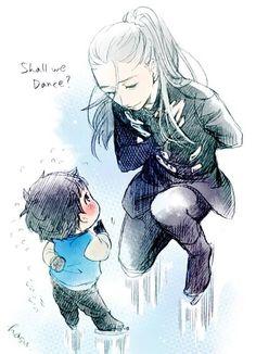 Yuri!!! on Ice > Awwwwwwn! Baby!Yuuri meeting his idol! So cute! >.<