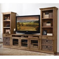 Shop for Riverside Pier, and other Home Entertainment Wall Units at Pamaro Shop Furniture in Sarasota and Bradenton, FL. Bookshelf Entertainment Center, Entertainment Room, Pallet Furniture Tv Stand, Modern Furniture, Riverside Furniture, Rack Tv, Muebles Living, Cool Tv Stands, Living Room Tv