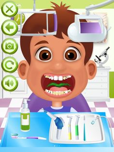 Dentist Office App by Ninjafish Studios. Kids Game Apps.