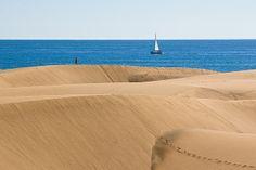 Sand dunes in Gran Canaria, Spain