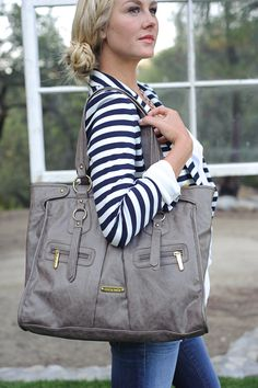 Look sleek and stylish with the Dawn in Taupe.