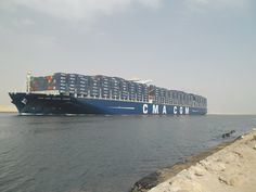 CMA CGM JULES VERNE in the Suez canal