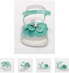 #Children's #Cherie #Sandals - Green #Leather, #Flower & #Sparkle #Kids Shoes. http://www.rinastore.com/1714-cherei-sandals-light-green/dp/2376  #MadeInItaly Available at Rina's #Italian #Shoe #Boutique. On Sale Now!