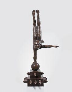 Sergio Bustamante, Fountain of Chlid Fish Balancer Bronze