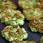 Zucchini Pancakes with Feta, Walnuts and Oregano. 6g Net Carbs. #MeatlessMonday