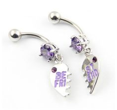 Best friends belly rings- wish i had a best friend to give one to :(