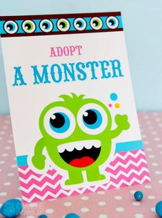 Monster Bash Baby Shower, Monster Baby Shower Decorations, Monster Baby shower Games, Monster themed baby shower party inspirations and photos Little Monster Birthday, Monster 1st Birthdays, Monster Birthday Parties, Monster Party, Party Monsters, Flat Design, Adopt A Monster, Colorful Birthday Party, Birthday Ideas