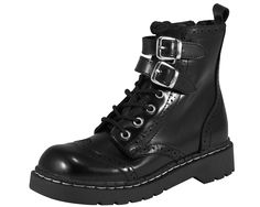 Faux Leopard Hair 7 Eye Combat Boot - T.U.K. Shoes | T.U.K. Shoes