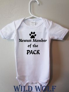 Handmade baby clothing newest member of the pack by BlueFoxApparel, $14.99
