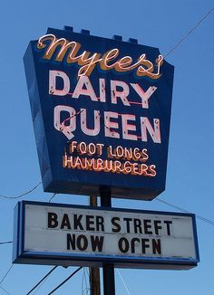 Myles' Dairy Queen in.... Bowling Green, Ohio.---