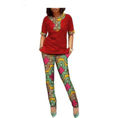 Gender: Women Decoration: Pattern,Zip,Pockets,None. Estimated Delivery Time:12-20days Sleeve Style: Regular Clothing Length: Regular Model Number: A1826005 Collar: O-Neck Pant Closure Type: Zipper Fly Closure Type: Zipper Material: Cotton Sleeve Length(cm): Half Pant Length(cm): Ankle-Length Pants Pattern Type: Print Style: Casual Private Custom: Yes Material: 100%Cotton Fabric: Wax,Batik Lining: No Season: Spring Number: 692 African Wear, African Women, School Uniform Dress, Natural Hair Wedding, African Blouses, Fashion Prints, Fashion Design, Ankle Length Pants, Africa Fashion