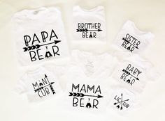 mama bear baby bear lil cub papa bear photo by family matching shirts daddy mama son father daughter man cubCandycoatedDreamz sister brother: