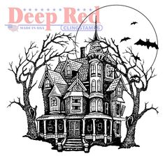 Deep+Red+Stamps+-+Halloween+-                           +Cling+Mounted+Rubber+Stamp+-+Haunted+Mansion+at+Scrapbook.com                                                       $6.99