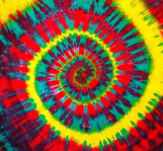 TIE DYE TAPESTRY  THE RASTA SPIRAL by TideEyes on Etsy, $30.00