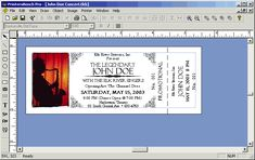 ticket size template