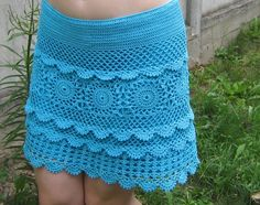 Blue summer skirt ♥LCS♥ with diagrams