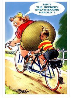 Saucy postcard Cartoon Jokes, Funny Cartoon Pictures, Funny Picture Jokes, Funny Cartoons, Funny Comics, Funny Images, Funny Photos, Funny Jokes, Funny Vintage Ads