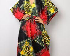 Maxi Dress / Long Blue Cotton Denim Summer Halter dress by Nuichan