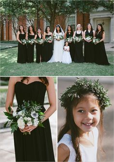 black bridesmaid dresses @weddingchicks
