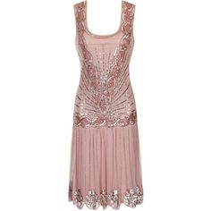 In a soft blush nude, the popular Zelda flapper dress is perfect for when you need to party like Gatsby! Hand embellished with pale pink sequins and beads and featuring a dramatic cut out back, this is a stunning party dress with a vintage twist! 20s Fashion, Look Fashion, Vintage Fashion, Vintage Inspired Dresses, Vintage Dresses, Vintage Outfits, Gatsby Dress, 1920s Dress, 20s Dresses