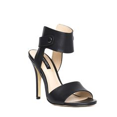 Black ankle cuff, open toe sandals