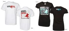 "White Hero Unisex Shirt; Black Hero Jr. Tee Fashion Fit (stretchy, premium Pima Cotton. Pre Shrunk) - Sizes S-2XL This special ""Everybody Needs a Hero"" commemorative shirt recognizes all ""hero dogs"" and supports the 2012 American Humane Association Hero Dog Awards™. The Hero Dog Awards™ celebrate the powerful relationship between dogs and people, and advance society's understanding of the human-animal bond. All retail profit from these shirt sales benefits the American Humane Association…"