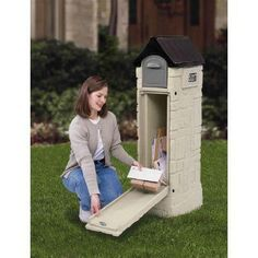 Step2 MailMaster StoreMore 53-3/8 in. Plastic Mailbox-531700 at The Home Depot