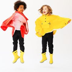 Rainwear by Petit Bateau ❤💛 Rain Wear, Rainy Days, Little Boys, Rain Jacket, Windbreaker, Raincoat, Yellow, Instagram Posts, Red