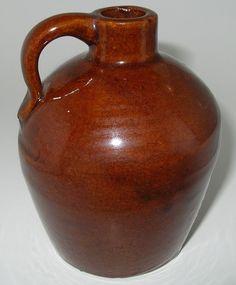 Roycroft Maple Syrup Strap Handled Stoneware Jug