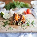 Chipotle Sweet Potato, Black Bean, and Guac Tacos