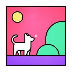 Dog #dog #animal #graphic #illust #illustration #graphicdesign #pictogram #thedesigntip #artwork #isotype #meanimize