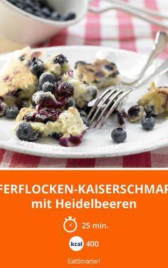 Haferflocken-Kaiserschmarrn mit Heidelbeeren