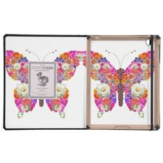 Pink Orange Floral Butterfly Girly Cute Collage iPad Cases