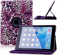 """myLife Purple, Black and White {Wavy Colored Leopard} 360 Degree Rotating Case for Apple iPad Mini 1, 2 and 3 (High Quality Koskin Faux Leather Cover + Slim Lightweight Design) """"All Ports Accessible"""" myLife Brand Products http://www.amazon.com/dp/B00T6ZS548/ref=cm_sw_r_pi_dp_8gZavb1WC9MM8"""