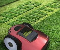 Grass Printer provides a way to decorate the lawn with creative cutting. Graphics can be cut into the grass based on an image.Grass Printer allow users to program in custom graphics from its touchscreen interface and then New Gadgets, Gadgets And Gizmos, Red Dot Design, Cool Technology, Design Awards, Lawn Mower, Inventions, Printer, Modern Design