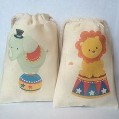 $9/set of 6 circus party circus party favor bags under the by owlwaysremember