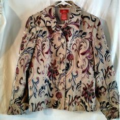 Oscar de la Renta beige red pink blue tapestry jacket medium US size 12 blazer Listing in the Other,Designer,Clothes, Shoes, Accessories Category on eBid United States | 157376974