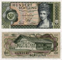 Buy Austria 100 Schillings 1969 Central Europe Banknote for Money Notes, Anna, Country Art, Central Europe, Rare Coins, Kinds Of Music, Austria, How To Make Money, The 100
